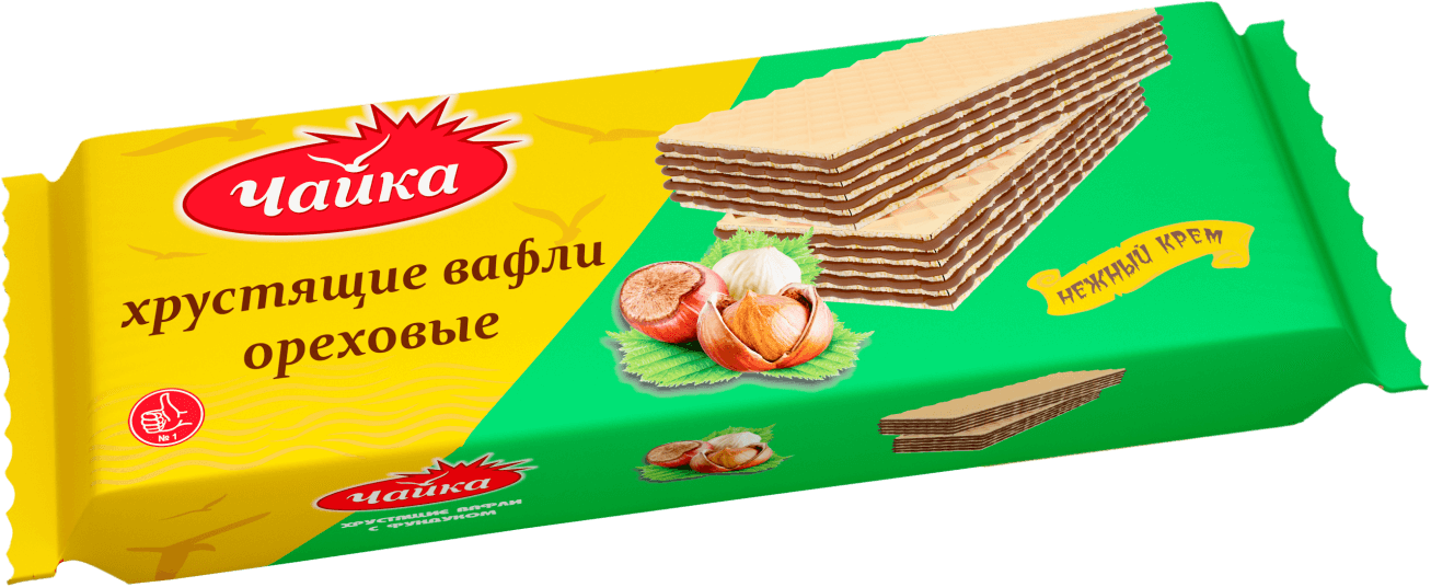 """CHAYKA"" HAZELNUT CREAM WAFERS"