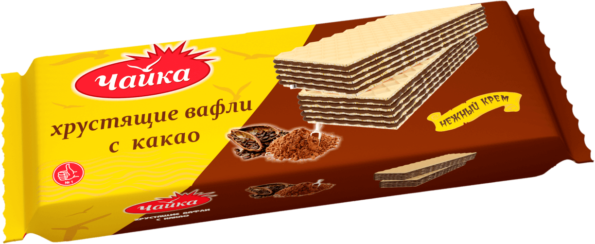 """СHAYKA"" CACAO CREAM WAFERS"