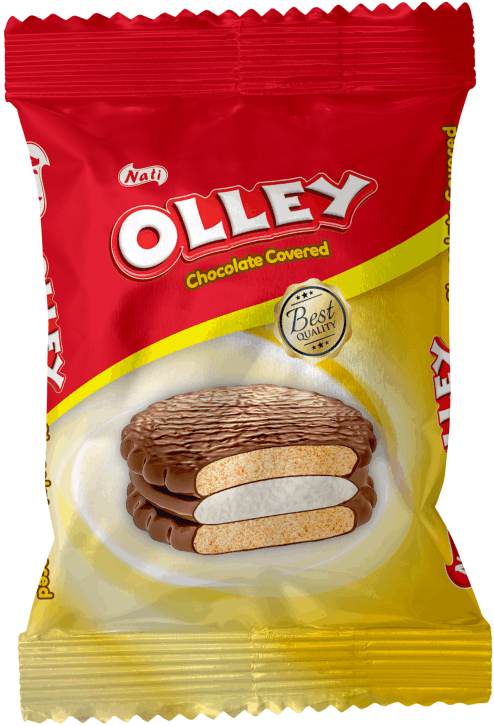 """OLLEY"" CHOCOLATE COVERED MARSHMALLOW BISCUITS"
