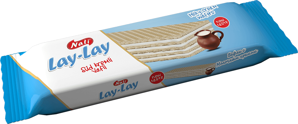"""LAY-LAY"" MILK CREAM WAFERS"
