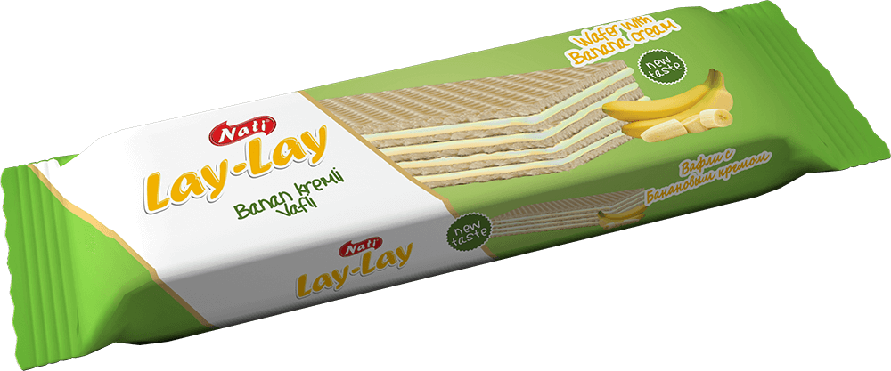 """LAY-LAY"" BANANA CREAM WAFERS"